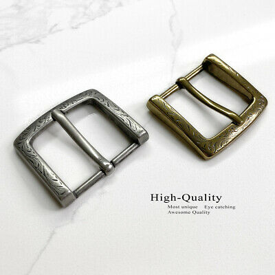 "P3983 Western Engraved Single Belt Buckle Fits 1.5"" Wide Straps Silver or Brass"
