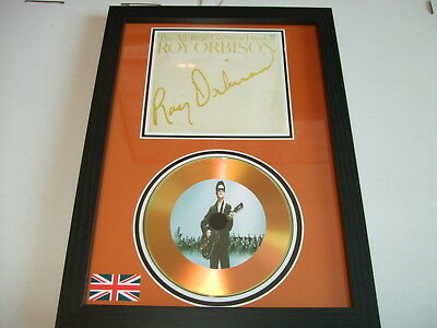 Roy Orbison  Signed  Gold Cd  Disc