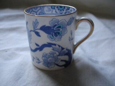 A Vintage Royal Tuscan Bone China Demitasse Coffee Cup With Blue Design