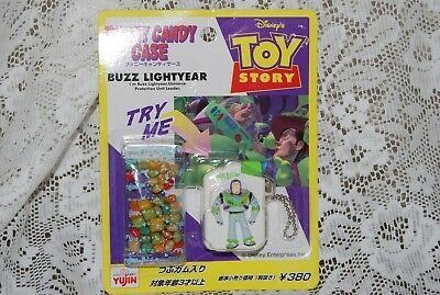 Disney~Orig TOY STORY~Buzz Lightyear CANDY DISPENSER/Keychain~JAPANESE, Japan