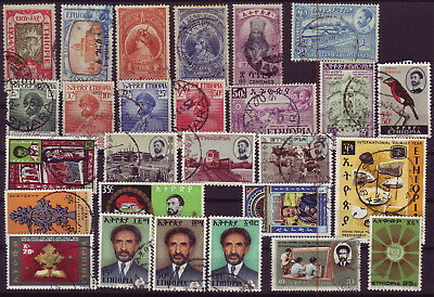 Ethiopia 1919/1976 Lot Of 27 Used Stamps