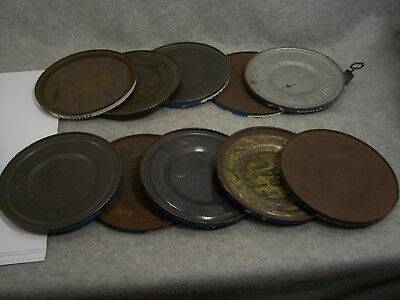 Maxwell House vintage coffee can lids  lot of 10