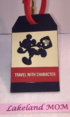 Disney parks TAG collection Mickey luggage tag travel with character new w tags