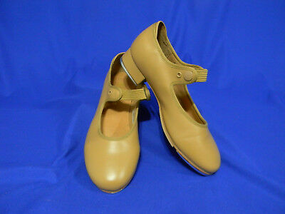 Bloch Tap Dance Girls Size S Sz 5 M Shoes Tan Girl Mary Jane Shoe Elastic Techno