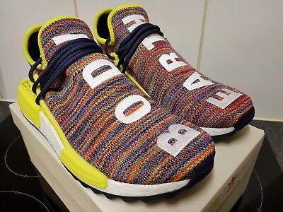 1c6912080c5e5 Adidas Pharrell Williams Human Race HU NMD Trail Multi Ink Yellow UK 9.5 US  10