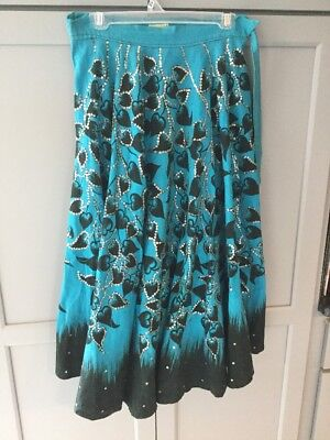 Vintage Mocambo Hecho En Mexico Size 14 Embriodered/ Sequined Circle Skirt