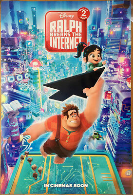 WRECK IT RALPH 2 BREAKS THE INTERNET MOVIE POSTER 2 Sided ORIGINAL Ver B 27x40
