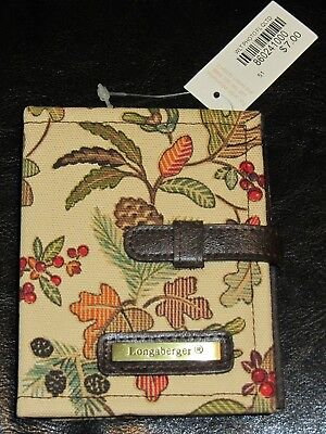 Longaberger AUTUMN PATH Photo Book or Credit Card Wallet NWT