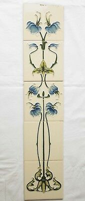 Running Pattern Reproduction 5 Tiles tube-lined art nouveau style