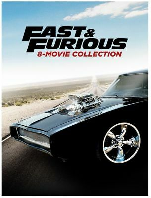 Fast & and Furious 1-8 (DVD, 2017,9-Disc Set) NEW-USA seller Free shipping