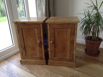 Pair Of Bespoke Victorian Style Rustic  Bedside Cabinets
