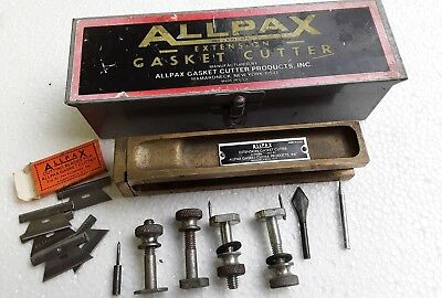 Used AllPax extension gasket cutter W/ Metal Case made in the USA