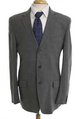Verri Gray Wool Three Button Notch Lapel Mens Blazer Size 50