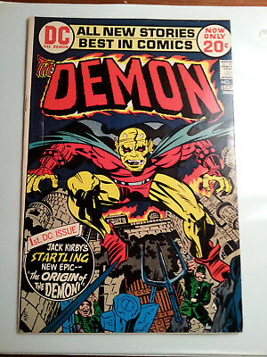 The Demon #1 (Aug-Sep 1972, DC) Rare Factory Miscut Cover