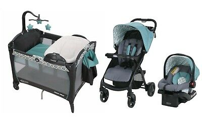 Graco Baby Stroller with Car Seat Infant Playard Crib Travel System Combo Set