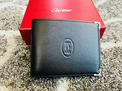 Cartier Wallet Black Brand New in Box Authentic Ship Fast