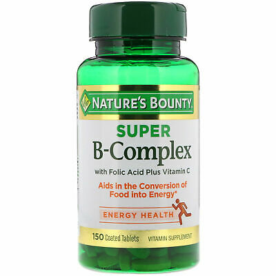 Nature's Bounty, Super B-Complex with Folic Acid Plus Vitamin C 150 Coated Tabs
