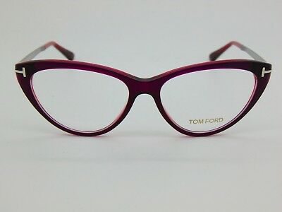7a850dbb50fe NEW Authentic TOM FORD TF 5354 075 Violet 53mm Cat-Eye Rx Eyeglasses