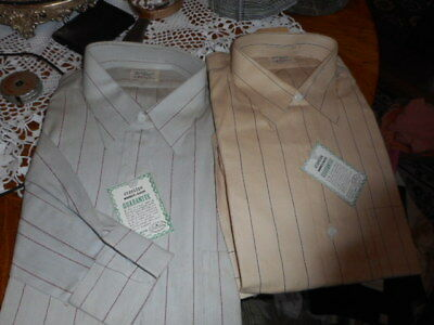 vtg mens shirts by town topic sanforized nos