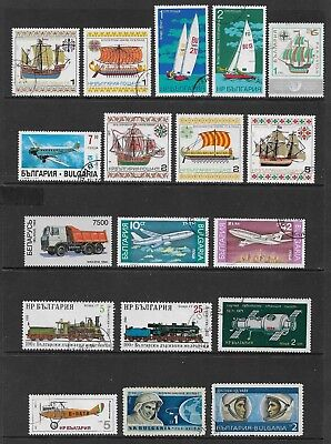 BULGARIA mixed collection No.15, Boats Planes Trains Truck Space