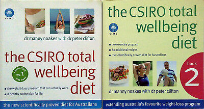 THE CSIRO TOTAL WELLBEING DIET BOOKS 1 & 2 -  Healthy Weight Loss - 2 COOKBOOKS