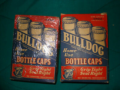 2 Bulldog Boxes of Bottle Caps In Great Condition!! With Opener