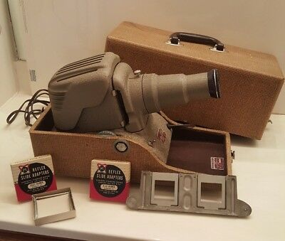 Vintage Antique Reflex Slide Projector In Case By GoldE Model 349