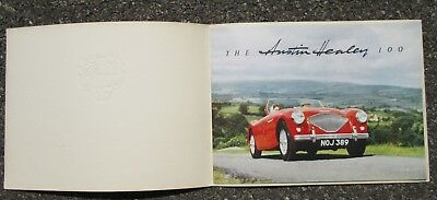 Austin Healey 100 Hundred Deluxe Advertising Brochure Circa 1953