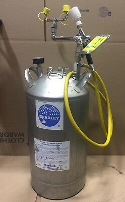 Bradley Pressurized Portable Eye/Face Wash Station with Drench Hose/Spray Nozzle