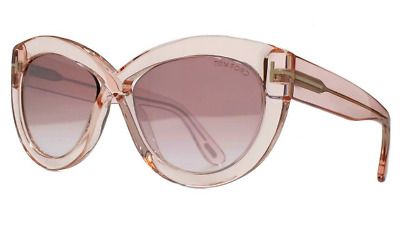 b700ae78822a TOM FORD TF 577 Diane-02 Sunglasses 72Z Shiny Pink   Mirrored lenses ...