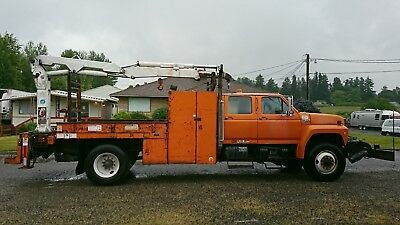 No Reserve! 1992 Ford F800 Knuckle Boom Crane Service Truck Imt 421Fb Pto Winch