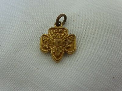Vintage Girl Scouts of America Gold Charm for Bracelet