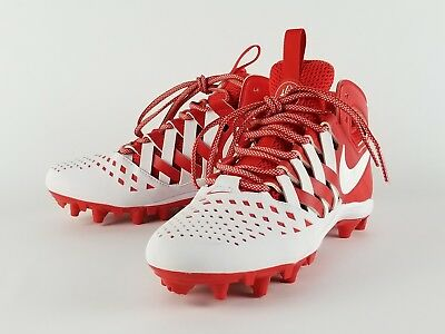 Nike Huarache V LAX Lacrosse Football Cleats Red/White 807142-611 Mens 9.5