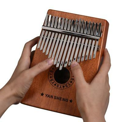 17-key Kalimba Thumb Piano Mbira Sanza with Carry Bag/Cleaning Cloth K2H9