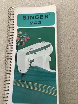 Instruction Book For Singer 242 Sewing Machine