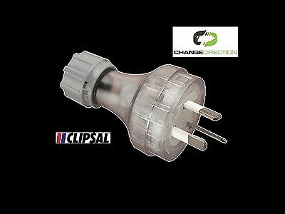 (3pcs)Plug Top: Clipsal 439S15-TR (Clear) 250VAC 15 Amp - AU 3pin Straight Entry