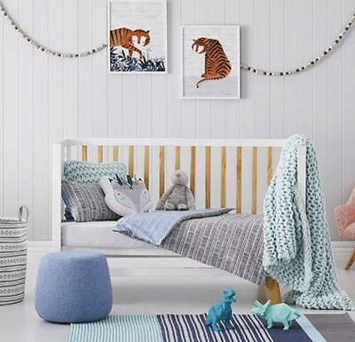 Brand new adairs kids TOM STRIPE Cot quilt cover set RRP $99.95