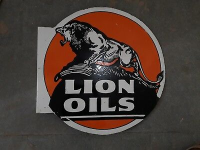 Porcelain LION OILS - 24 x 24 Inch ROUND Double Sided Flange