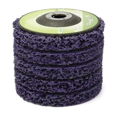 Purple Poly Strip Disc Wheel Paint Rust Removal Clean For Angle Grinder 100mm WT
