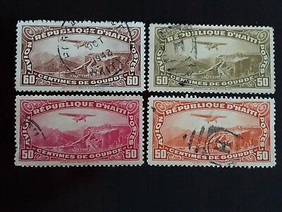 D'HAITI Excellent Lot of Old Air Mail Used Stamps as Per Photo. Very Low Start