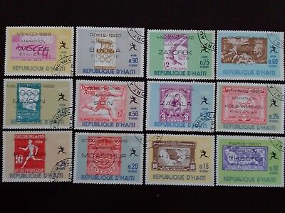 D'HAITI Great Lot of Old Used Stamps as Per Photo. Good Value.Very Low Start