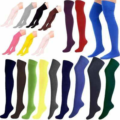 Girls Plain Fairy Tale Knee High Socks Childrens Fancy Dress Party Accessories