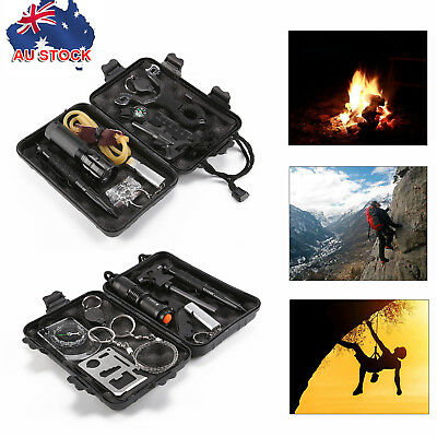 AU Emergency Survival Equipment Kit Outdoor Sports Tactical Hiking Camping Tool