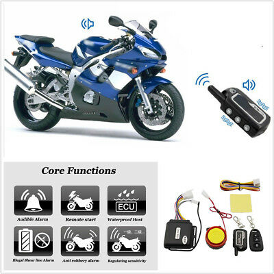 12V 125DB Two-Way Motorcycle Antitheft Remote Control Engines Start Anti Cut Off