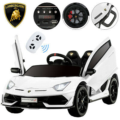 12V Kids Ride on Truck Toys Car Electric Suspension Battery Led Light w/RC White