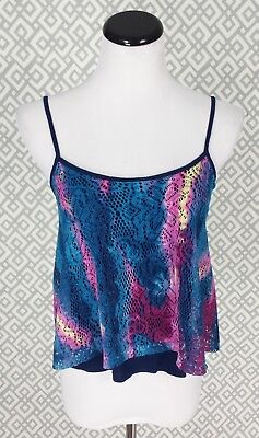 a3cb67437eb24 Womens Daytrip Tie Dye Cropped Cami Top Blouse Shirt Size S Small Blue  Buckle