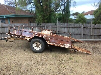 Single Axle Plant Trailer With Ramps