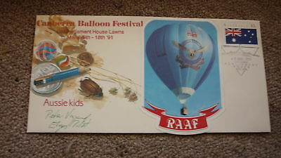 Old Hot Air Balloon Flight Cover, 1991 Canberra Balloon Festival, Raaf Balloon 1