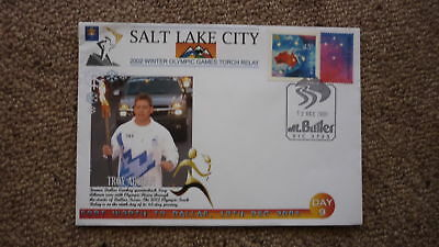 2001 Salt Lake City Winter Olympic Games Torch Relay Cover, Troy Aikman