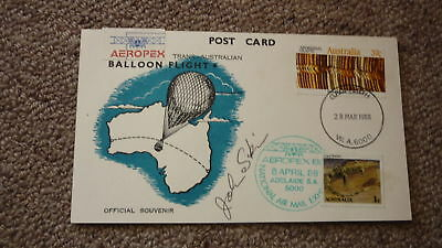 Old Hot Air Balloon Flight Cover, 1988 Aeropex Balloon Flight Signed
